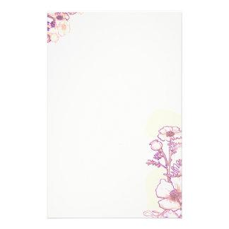 Amapolas en púrpura y el pergamino  papeleria