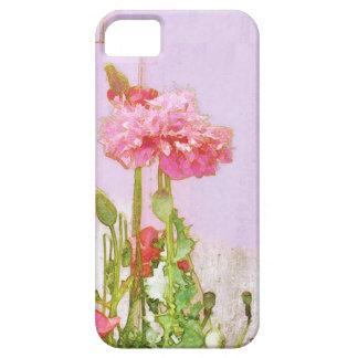 Amapolas en rosa y rojo iPhone 5 protectores