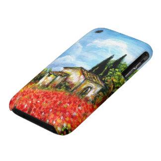 AMAPOLAS EN TOSCANA CARCASA PARA iPhone 3