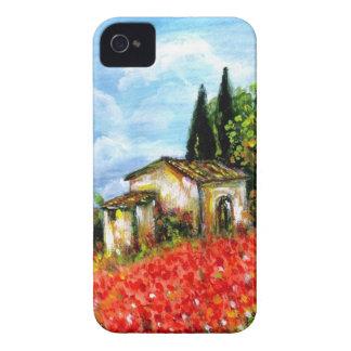 AMAPOLAS EN TOSCANA FUNDA PARA iPhone 4 DE Case-Mate