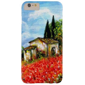AMAPOLAS EN TOSCANA/paisaje con los campos de flor Funda Barely There iPhone 6 Plus