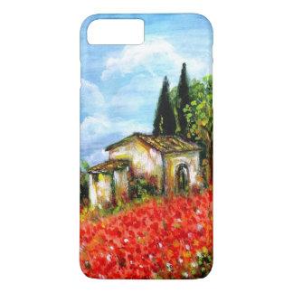 AMAPOLAS EN TOSCANA/paisaje con los campos de flor Funda iPhone 7 Plus