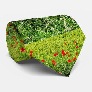 Amapolas en verano corbatas personalizadas
