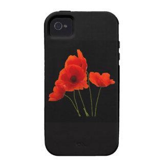 """Amapolas "" iPhone 4/4S Carcasas"