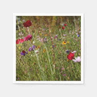 Amapolas hermosas del prado del Wildflower Servilletas Desechables