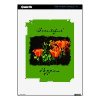 Amapolas iPad 3 Pegatinas Skins