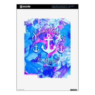 Amapolas náuticas Art. del azul real iPad 3 Skins