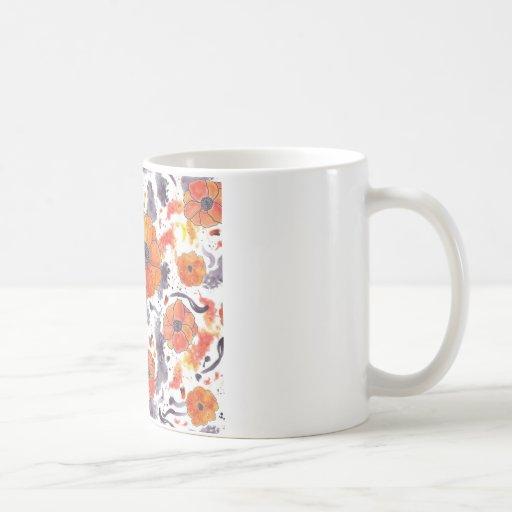Amapolas pintadas taza