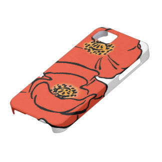 Amapolas rojas de mago de Oz del vintage en primav iPhone 5 Case-Mate Cobertura