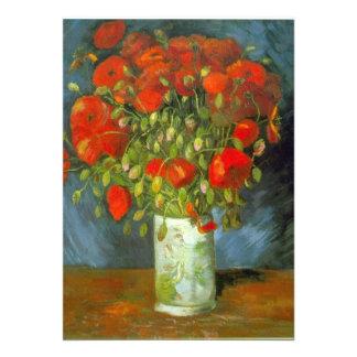 Amapolas rojas de Vincent van Gogh Comunicado