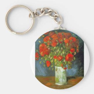 Amapolas rojas de Vincent Willem Van Gogh Llavero Redondo Tipo Pin