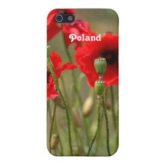 Amapolas rojas en Polonia iPhone 5 Funda