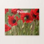 Amapolas rojas en Polonia Rompecabezas Con Fotos