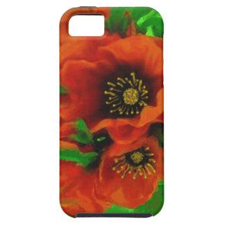 Amapolas rojas iPhone 5 Case-Mate protectores