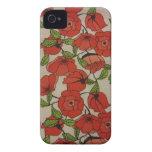 Amapolas rojas iPhone 4 Case-Mate protectores