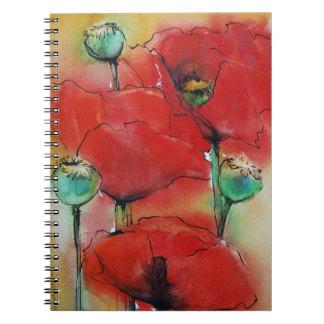 Amapolas rojas libro de apuntes