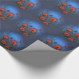 Amapolas rojas, pintura original, impresionismo papel de regalo