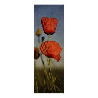 Amapolas rojas, tarjeta de visita