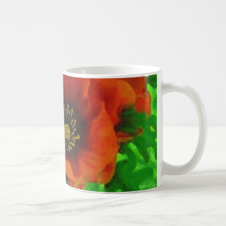 Amapolas rojas taza clásica