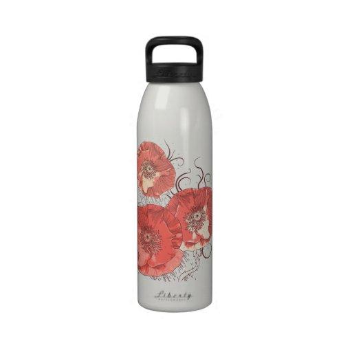 Amapolas rojas Ver. B Botella De Beber