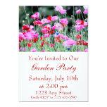 Amapolas rojas y rosadas invitación 12,7 x 17,8 cm