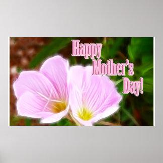 Amapolas rosadas para el día de madre póster