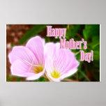 Amapolas rosadas para el día de madre posters
