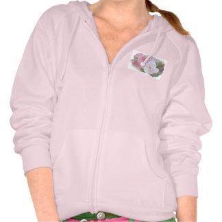 Amapolas rosadas sudadera con capucha