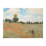 Amapolas salvajes de Claude Monet el |, cerca de Impresión En Lienzo