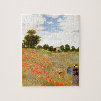 Amapolas salvajes de Claude Monet // Rompecabezas Con Fotos