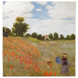 Amapolas salvajes de Claude Monet Servilletas De Papel