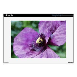 Amapolas violetas/amapolas púrpuras calcomanía para 38,1cm portátil