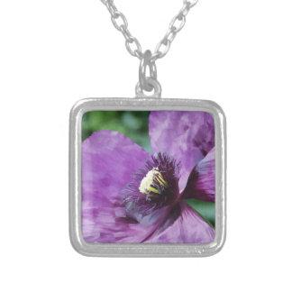Amapolas violetas/amapolas púrpuras colgante cuadrado