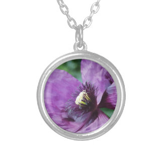 Amapolas violetas/amapolas púrpuras colgante redondo