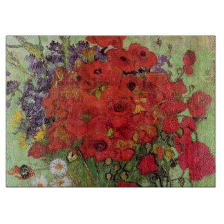 Amapolas y margaritas rojas, flores de Van Gogh de Tablas De Cortar