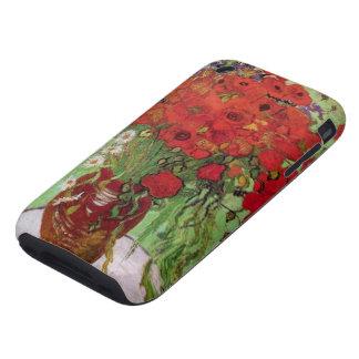 Amapolas y margaritas rojas, flores de Van Gogh de Tough iPhone 3 Protector
