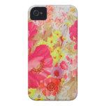 Amapolas y sol. Impresión floral iPhone 4 Case-Mate Fundas