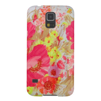 Amapolas y sol. Impresión floral Funda Galaxy S5