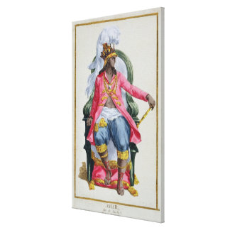 Amar, King of Ouidah, from 'Receuil des Estampes, Canvas Print