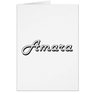 Amara Classic Retro Name Design Greeting Card