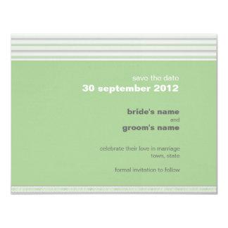 Amara Fret pistachio Save the Date Announcement