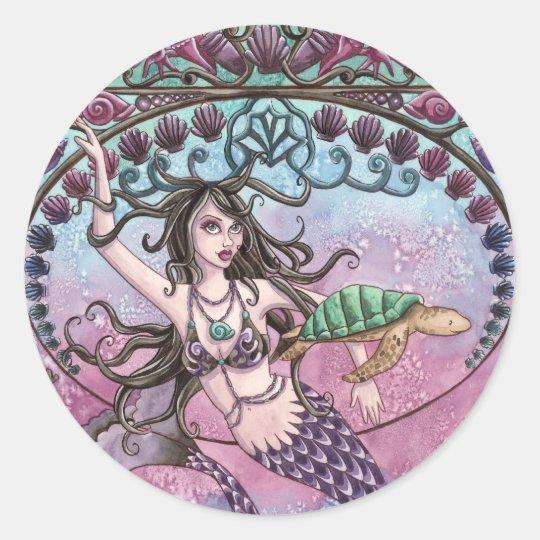 Amara - Mermaid and Turtle Sticker