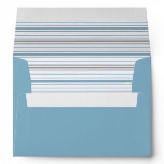 Amara Stripe Cornflower A7 Envelope envelope