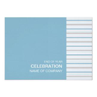 """Amara Stripe Cornflower Corporate Party Invitation 5"""" X 7"""" Invitation Card"""