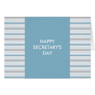 Amara Stripe Cornflower Happy Secretary's Day Card
