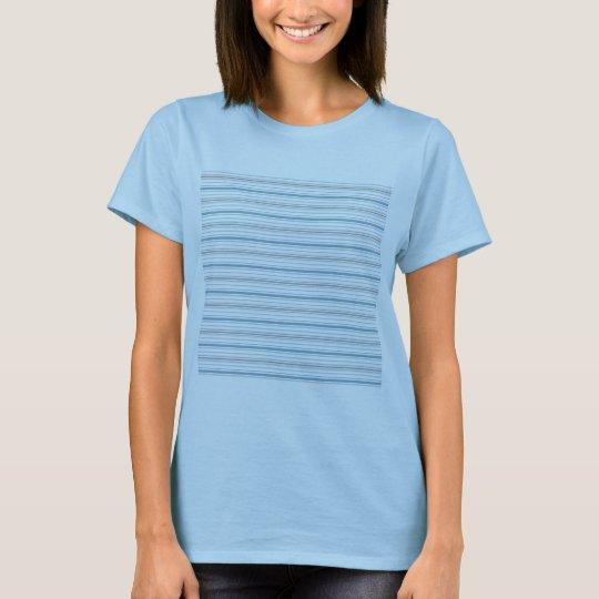 Amara Stripe Cornflower Ladies Fitted T-Shirt