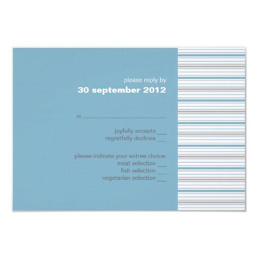 Amara Stripe Cornflower RSVP Card Invitation