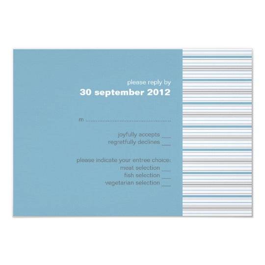 Amara Stripe Cornflower RSVP Card Invitation