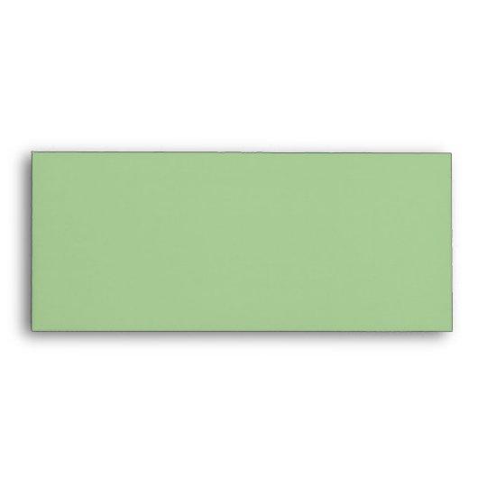 Amara Stripe pistachio #10 Invitation Envelope