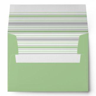 Amara Stripe pistachio A7 Envelope envelope